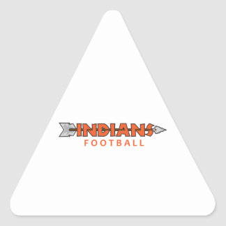 INDIANS FOOTBALL TRIANGLE STICKER