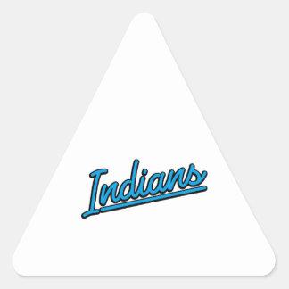 Indians in cyan triangle sticker