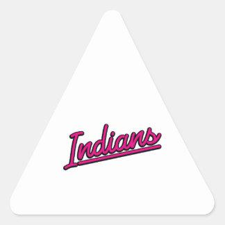 Indians in magenta triangle sticker