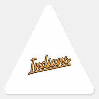 Indians in orange triangle sticker