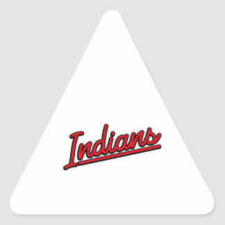 Indians in red triangle sticker