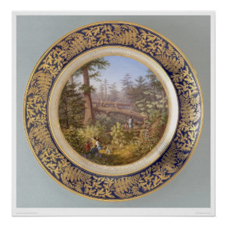 Indians in Sitka, Alaska Forest Plate (2953A) Poster