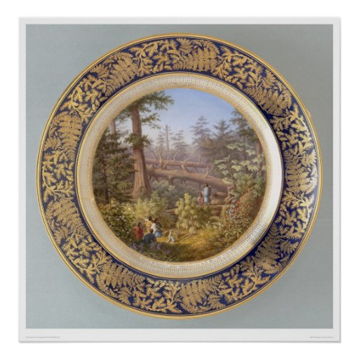 Indians in Sitka, Alaska Forest Plate (2953A) Posters