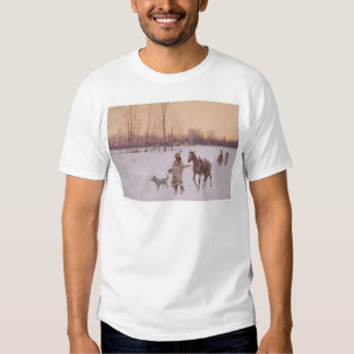 Indians in the Snow (0565A) T Shirt