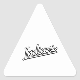 Indians in white triangle sticker