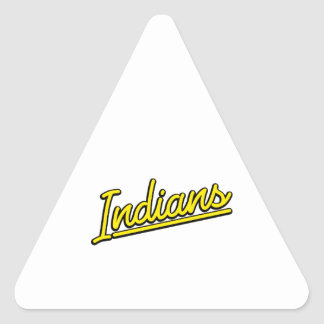 Indians in yellow triangle sticker