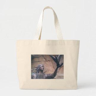 indians large tote bag