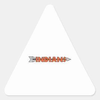 INDIANS MASCOT TRIANGLE STICKER
