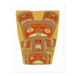 Indians native American wood mask wooden MASKs Postcards