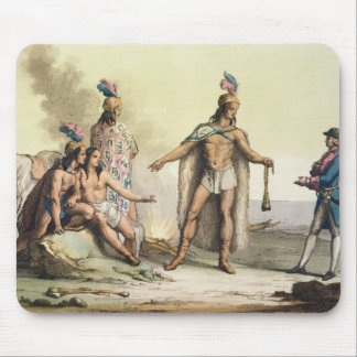 Indians of Patagonia, Chile, greeting a European t Mouse Pad
