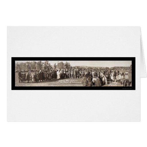 Indians Pendleton, OR Photo 1911 Greeting Card