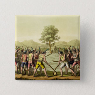 Indians playing Ciueca, Chile, from 'Le Costume An Button