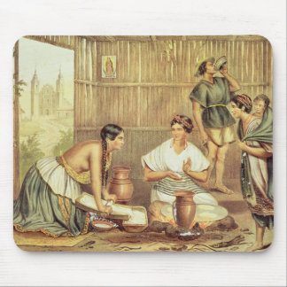 Indians Preparing Tortillas Mouse Pad