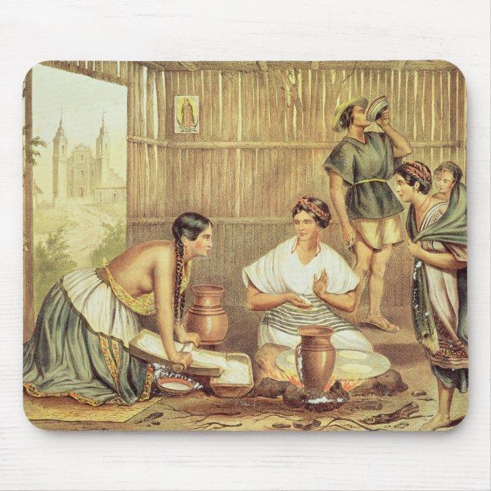 Indians Preparing Tortillas Mouse Pad