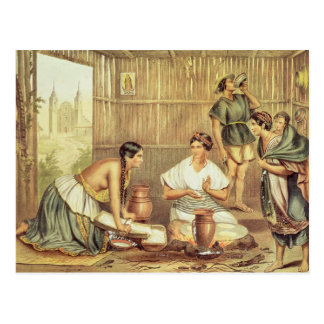 Indians Preparing Tortillas Postcard
