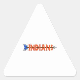 INDIANS TEAM TRIANGLE STICKER