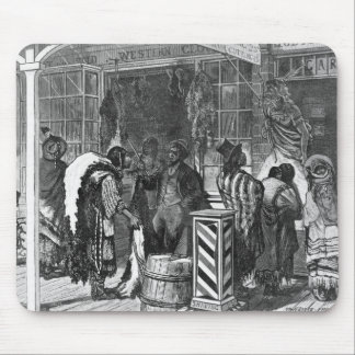 Indians Trading at a Frontier Town Mouse Pad