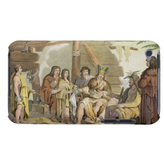Indians trading with La Perouse in Canada (colour Barely There iPod Cover