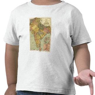 IndiaPanoramic MapIndia Camisetas