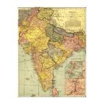 IndiaPanoramic MapIndia Canvas Print