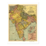 IndiaPanoramic MapIndia Postcard