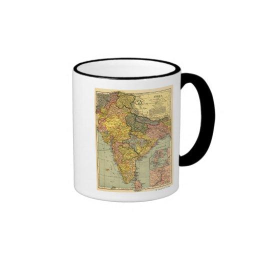 IndiaPanoramic MapIndia Ringer Coffee Mug