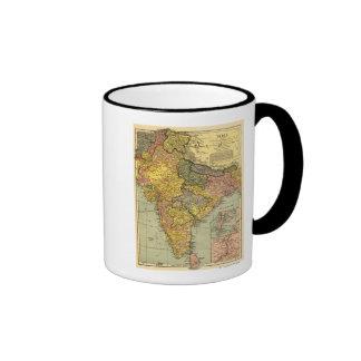 IndiaPanoramic MapIndia Ringer Mug