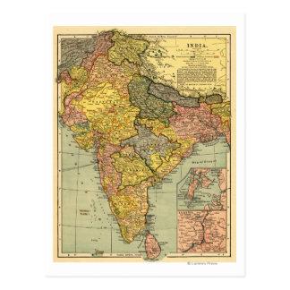 IndiaPanoramic MapIndia Tarjetas Postales
