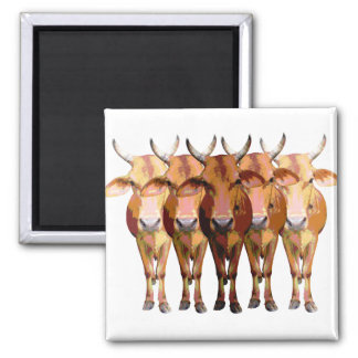 India's cow 2 inch square magnet