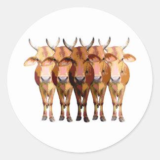 India's cow classic round sticker