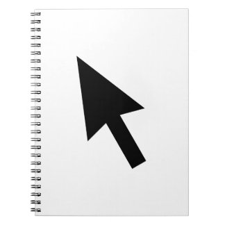 Indicador de flecha del ordenador libreta espiral