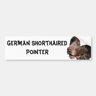 Indicador de pelo corto alemán etiqueta de parachoque