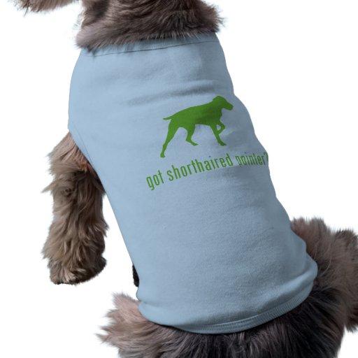 Indicador de pelo corto alemán ropa para mascota