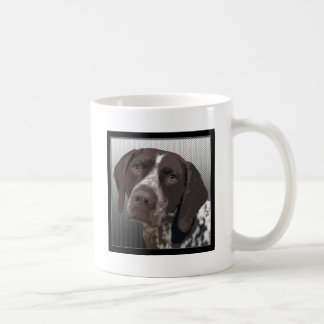 Indicador de pelo corto alemán taza de café