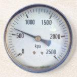 Indicador de presión de Steampunk Posavasos Diseño
