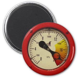 ¡Indicador de presión del vapor - advirtiendo! Imán Redondo 5 Cm