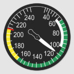 Indicador de velocidad aérea de los aviones pegatinas redondas