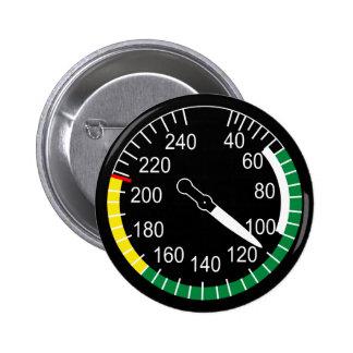 Indicador de velocidad aérea de los aviones pin