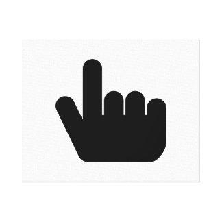 Indicador del dedo del ordenador impresiones en lona