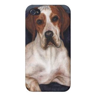indicador pedigrí del caso del iPhone del perro iPhone 4/4S Carcasa