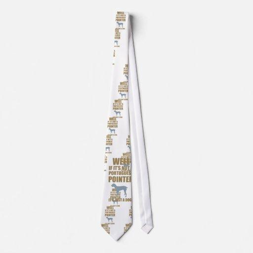 Indicador portugués corbatas