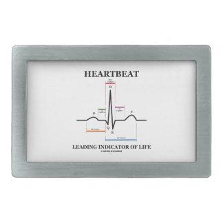 Indicador principal del latido del corazón de la hebilla cinturón rectangular