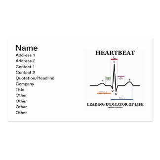 Indicador principal del latido del corazón de la tarjetas de visita