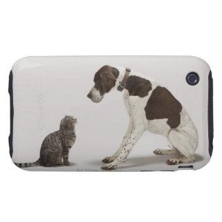 Indicador que mira abajo el gato carcasa resistente para iPhone