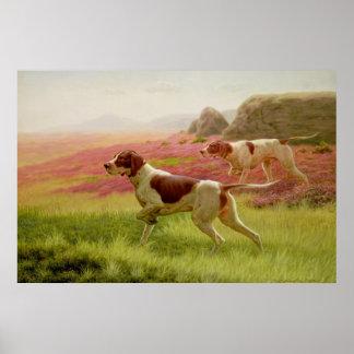 Indicadores en un paisaje, siglo XIX Póster