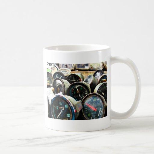 Indicadores viejos tazas de café