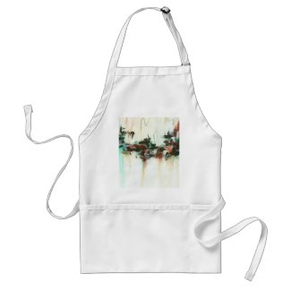 Indication Original Abstract Painting apron
