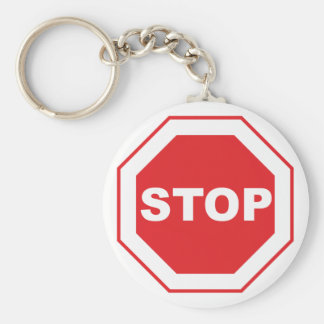 Indication sign stop keychain