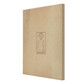 Índice al atlas impresión en lienzo estirada