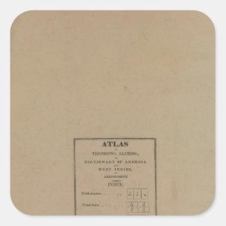 Índice al atlas calcomanías cuadradas personalizadas